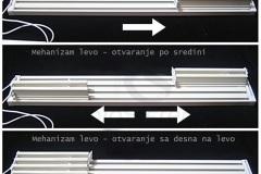 Četvorokanalne panelne zavese sa mehanizmom